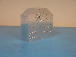 Figure 2 - the prototype orthomode transducer (OMT), designed and produced by NRC Herzberg