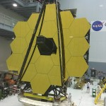Figure 2 - A rare view of the James Webb Space Telescope face-on in the Goddard clean room (May 2016).