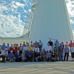Workshop participants under the John A. Galt 26-m telescope.