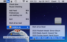 Screen shot of FeedBot reader